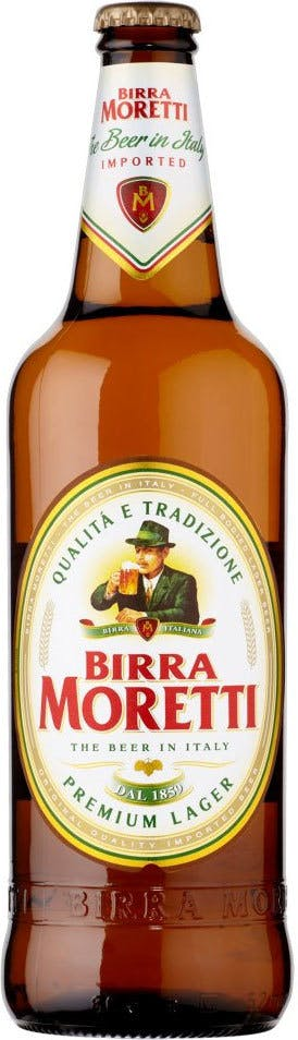 Birra Moretti Lager 6 pack 12 oz. Bottle - New Canaan Wine