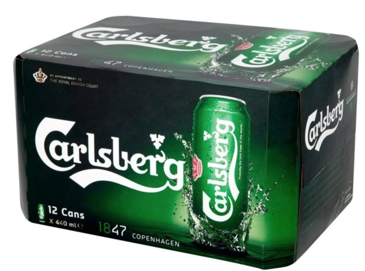 Carlsberg Beer 12 pack 16 oz  Can