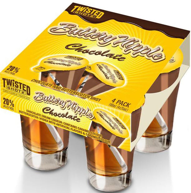 Twisted Shotz Chocolate Buttery Nipple 100ml Buster S Liquors Wines,Brandy Alexander Drag Queen