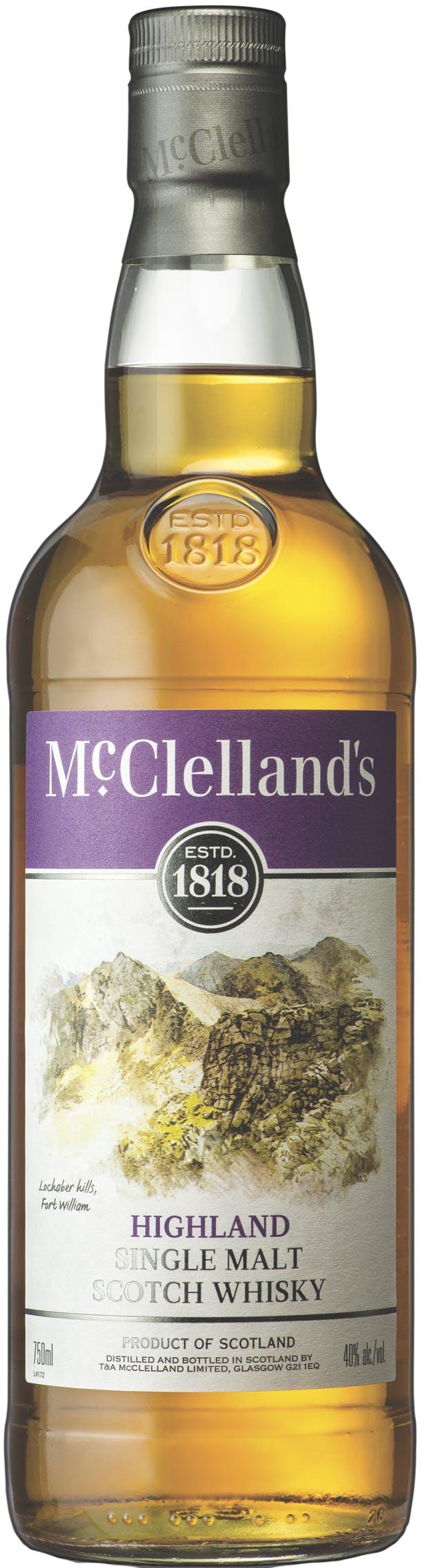 McClellands Highland Single Malt Scotch Whisky - Stirling