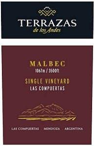 Terrazas De Los Andes Single Vineyard Las Compuertas Malbec 2013