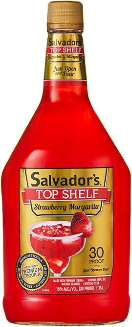 Salvador S Top Shelf Strawberry Margarita 1 75l Buster S Liquors Wines