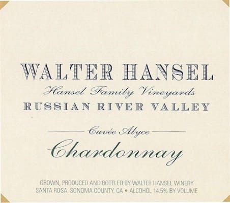 Walter Hansel Cuvée Alyce Chardonnay 2016