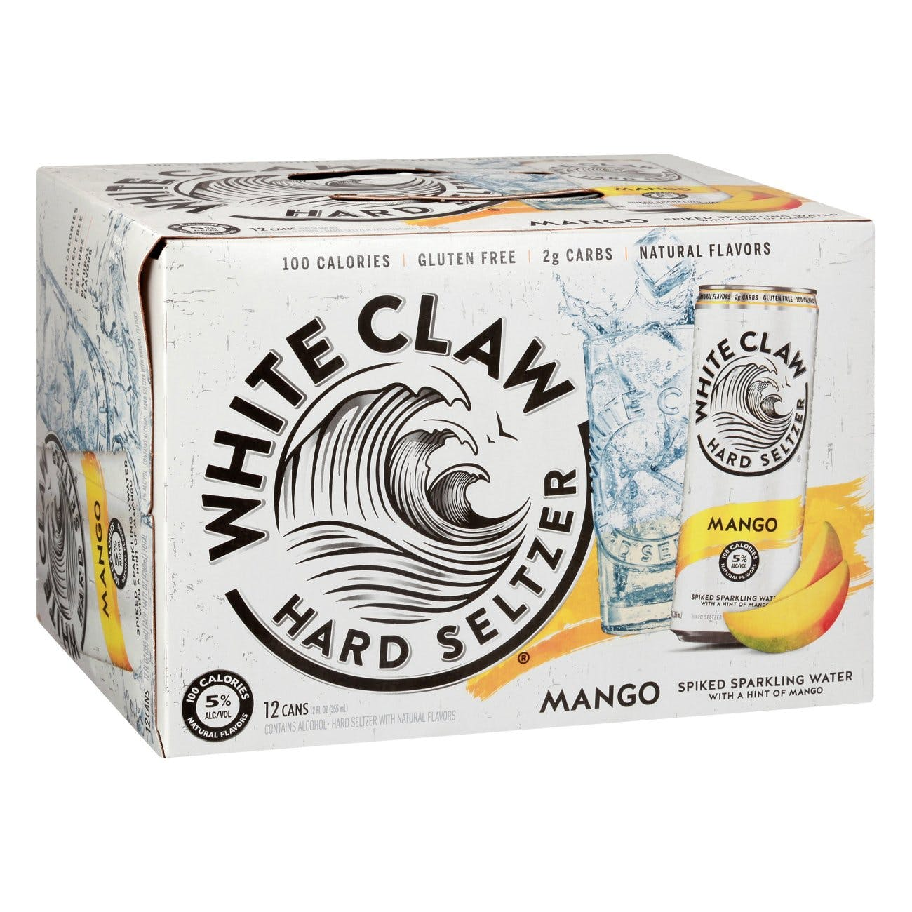 White Claw Hard Seltzer Mango 12 pack 12 oz. Can - Garden State Discount Liquors