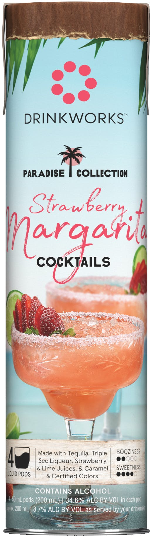 Drinkworks Strawberry Margarita 50ml Cool Springs Wines And Spirits